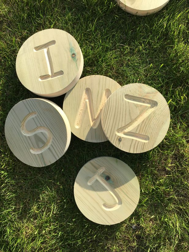 Wooden Alphabet Discs - Upper Case