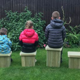 Outdoor Children's Stool Set